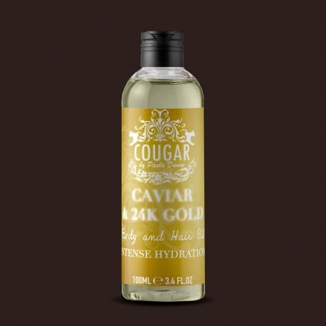 Olej na vlasy a tělo s extraktem z kaviáru a 24K zlata