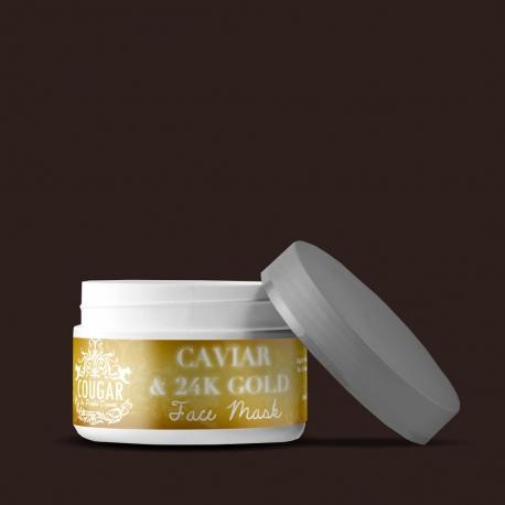 Pleťová maska s extraktem z kaviáru a 24K zlata