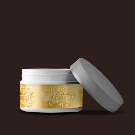 Maska na tvář s extraktem ze zlata a arganového oleje